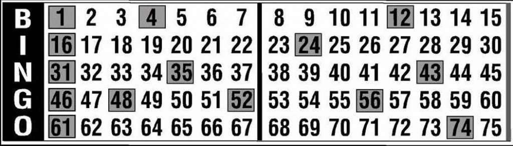 bingo pull tabs example of Derby or Race Games