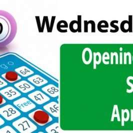 Opening Night Bingo Specials