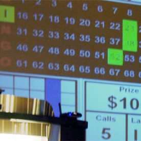 helpful bingo tips - bingo caller table and screen