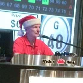 Kansas city bingo players visited by santa