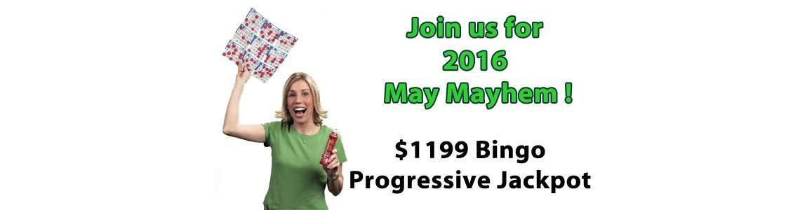 $1199 Bingo Progressive Jackpots during May 2016