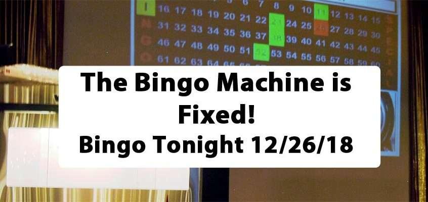 Bingo Machine Fixed!