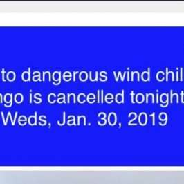 bingo cancelled jan 30 2019