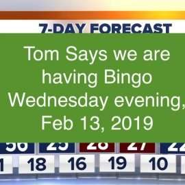 bingo wed feb 13 2019 - we're finally open