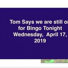 open for bingo weds april 17 2019