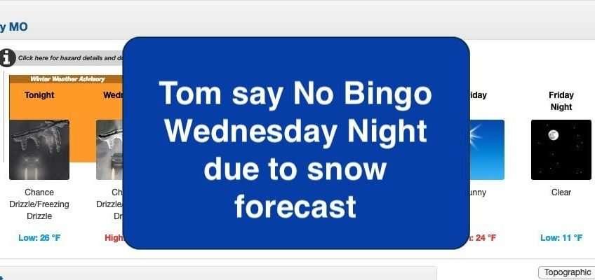 bingo cancelled jan 22