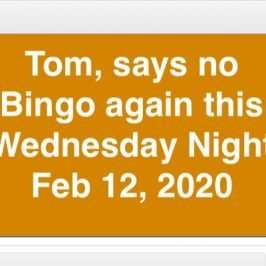 bingo cancelled feb 12 2020