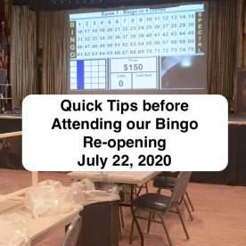 Tips before attending bingo