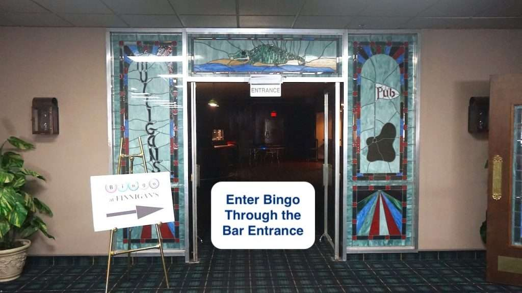 bingo covid-19 safety measures - bar Entrance