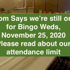 Open for bingo weds nov 25 2020