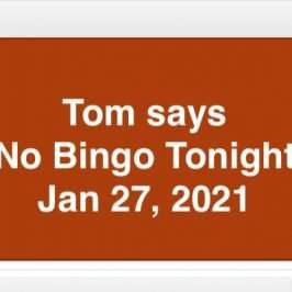 no bingo jan 27, 2021