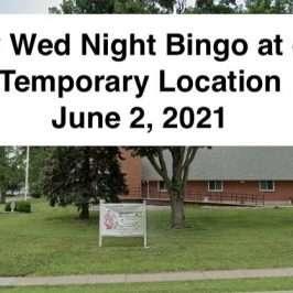 temporary location june 2, 2021 - play bingo
