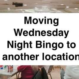 moving Wednesday night bingo to another location