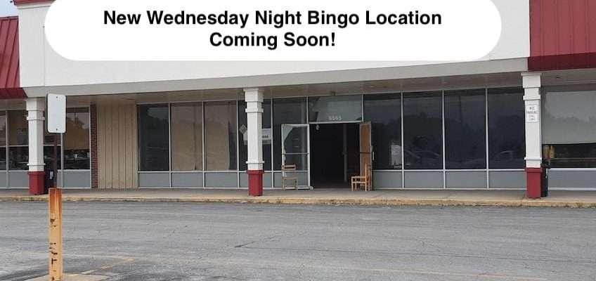 new weds night bingo location sept. 2021