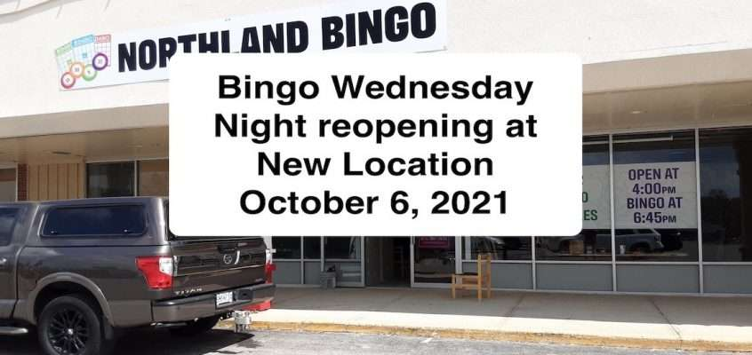 Bingo Cancelled Until October 6, 2021